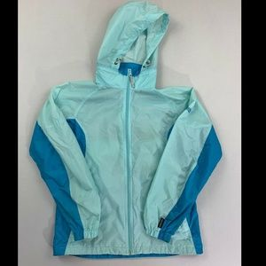 Columbia Blue Long Sleeve Softshell Jacket Small